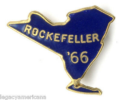 1966 Nelson Rockefeller New York Governor Enamel Pin (2763)
