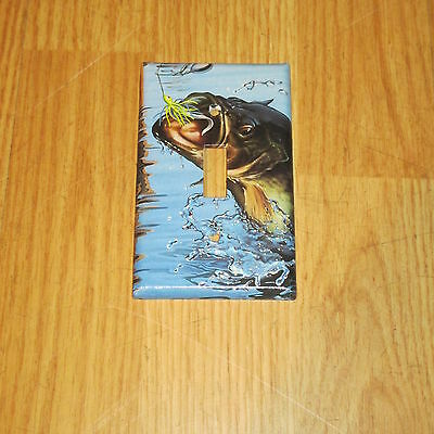 Huge Trophy Monster Bass Wild Game Fish Light Switch Cover Plate #9