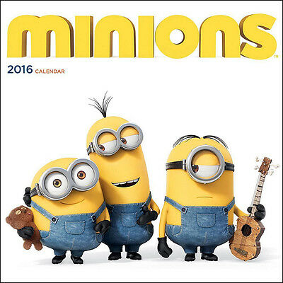 (Despicable Me) Minions Animated Art 12 Month 2016  Wall Calendar, NEW SEALED
