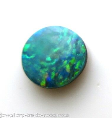Opal Doublet 4mm Round Cabochon Cut Gem Gemstone