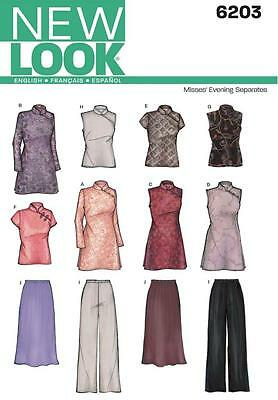 NEW LOOK SEWING PATTERN Misses Evening Tops Tunics Skirt & Pants 8 - 18  6203