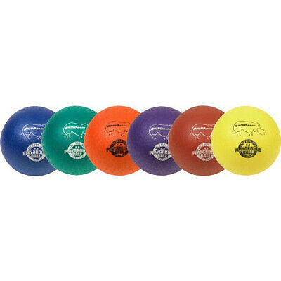Champion Sports Rhino Skin Rubber Playground Ball Set 6 - assorted color