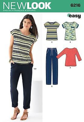 New Look Sewing Pattern Misses' Easy Knit Top & Trousers 8 - 18 6216