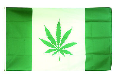 Blunt Cannabis Leaf Flag Large 5 x 3/' Weed Marijuana Festival Party Banner