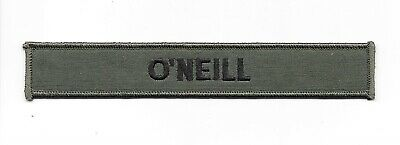 Stargate SG-1 TV Series O'Neill Uniform Name Chest Embroidered Patch NEW UNUSED