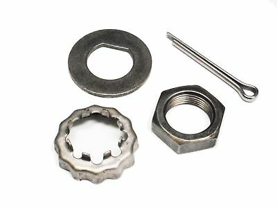 Trailer Axle Spindle Nut Kit D-Type Washer Slotted Lock Shield Boat Trailer