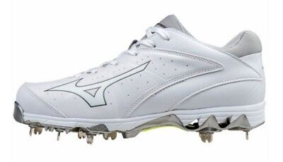 Mizuno Women's 9 Spike Swift 4 Fastpitch Softball Cleat Shoe White 320510