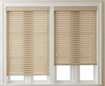 """NEW JCPenney Home 2"""" Smooth Faux-Wood Horizontal Blinds Window Treatment NIB"""