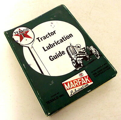 Vintage Texaco Tractor Lubrication Guide Manual book MARFAK John Deere Case Ford