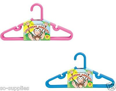 30 X Childrens Kids Coat Clothes Hangers Hanging Child Baby Toddler Trousers