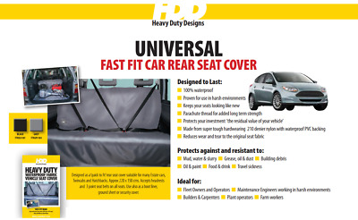 HDD Universal Fast Fit Rear Seat Cover GREY 304 Heavy Duty Designs