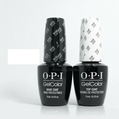 OPI GelColor Nail Gel Nail Polish Base & Top 0.5oz each Duo Pack