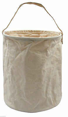 New Rothco Natural Canvas Collapsible Canvas Water Carrier Bucket Tool Carrier