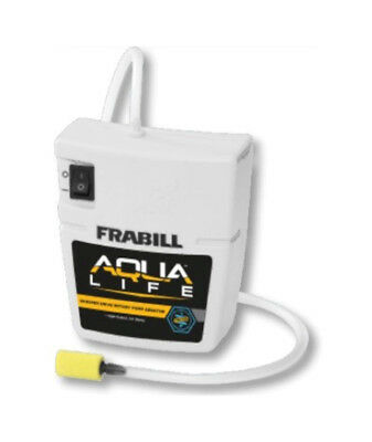 Frabill Whisper Quiet Portable Aerator With High Output Airstone-Live Bait Pump