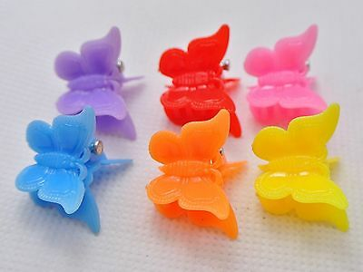 50 Mixed Color Plastic Butterfly Mini Hair Claw Clips Clamp for Kids