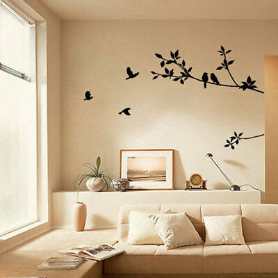 Removable kids Tree Bird Quote Wall Sticker Decal Mural DIY Room Art Home Decor
