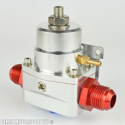 AN10 (JIC -10) Fuel Pressure Regulator Silver With 10AN Fittings 7 Bar 1:1