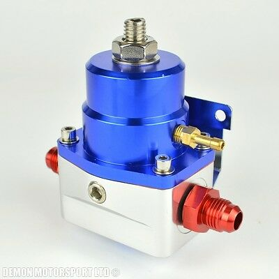 AN6 (JIC -6) Fuel Pressure Regulator Blue With 6AN Fittings 7 Bar 1:1