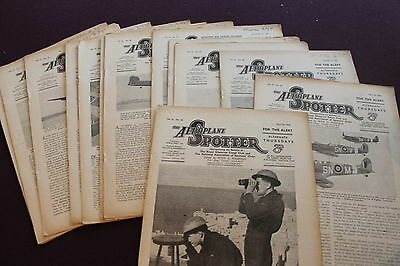 (E1GBis)  LOT OF 13 THE AEROPLANE SPOTTER 1942 Vol. III
