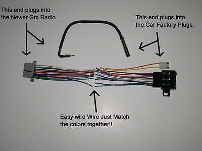new factory radio stereo installation delco 16140051 wire wiring