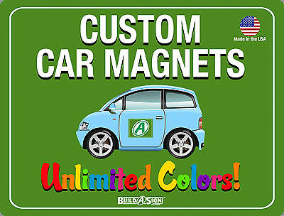 2- 18x24 Custom Car Magnets  Magnetic Auto Truck Signs
