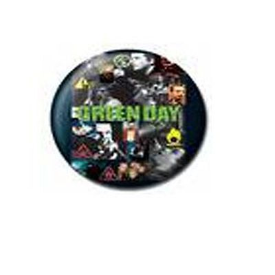 Green Day Collage Metal Pin Bagde Official Cinder Block 25mm Rare