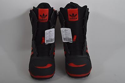 2016 NWT MENS ADIDAS ZX SNOWBOARD BOOTS $200 9 red black speed zone lacing
