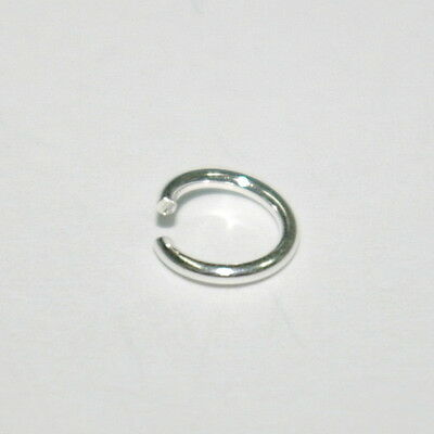 WHOLESALE LOTS 925 Sterling Silver 7mm OPEN JUMP RINGS 1mm 18 gauge thick