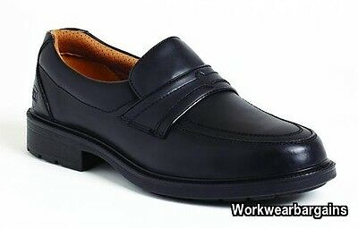 9ffc21cb6e1 CITY KNIGHTS LEATHER Steel Toe Cap Brogue Safety Shoes Smart Office ...