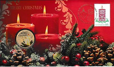 2013 Australia PNC, Merry Christmas, with special $1 unc coin