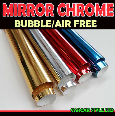 【Mirror Chrome】0.7m(27.6in)x1.52m(59.8in)Vehicle Wrap Vinyl Sticker Film AirFree