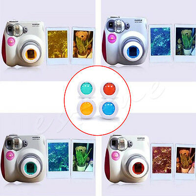 New Filter Close-up Lens For Fujifilm Instax Mini 7s 8 50s Camera 4 Colors Set