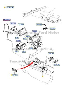 New Oem Usb Cable Assembly Orginal Fit Ford Edge Lincoln Mkx #bt4Z-14D202-A