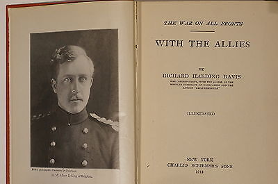 WW1 British Correspondent Davis War On All Fronts With The Allies Reference Book
