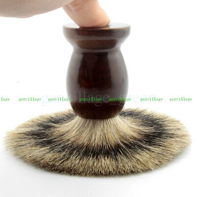 Fashion Brown Schima Wood Shaving Brush Best Pure Badger Hair Barber Salon Shave