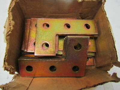 T&B Thomas & Betts N219 90-deg Steel Corner Plate GoldGalv Finish Lot of 21