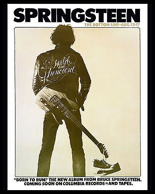 Bruce Springsteen - 1975 Born to Run Concert Poster, 8x10 Photo