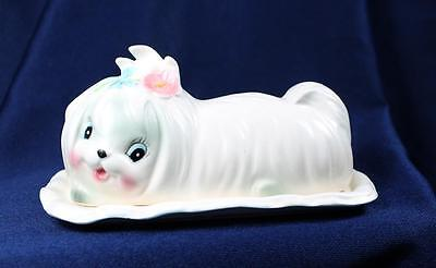 Lefton China Toodles 2 Piece Covered Butter Dish Sooo Cute!!
