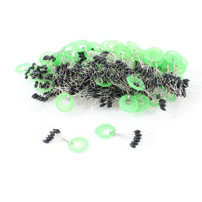 100 Pcs 6mm x 2mm Black Plastic Bead 6 in 1 Floater Fishing Tackle