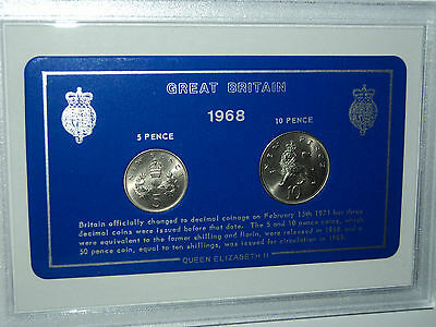 1968 Vintage Coin Set 51st Birthday Birth Year Present Wedding Anniversary Gift