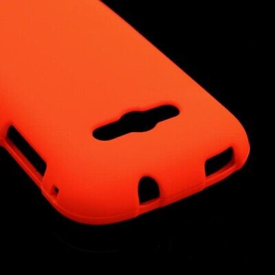 Neon Orange Case For Samsung Galaxy Reverb M950 Hard Rubberized Snap On Cover