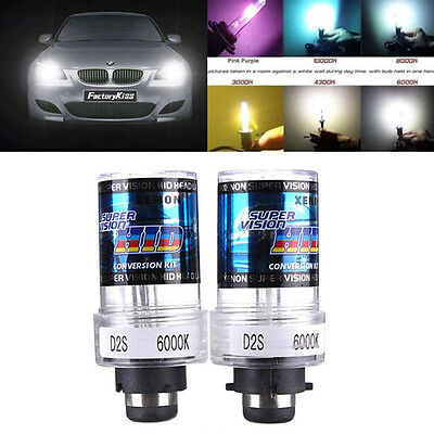 2x D2S HID Xénon Phare Feux 35W Blanc Pure 6000K 3200LM Ampoule Lampe Voiture NF