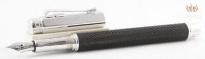 Caran D'ache Varius Ivanhoe Black With Silver Plated Rhodium Coated Fountain Pen