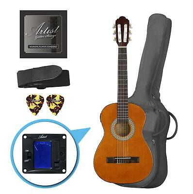 Artist CL12AM 1/2 Size Classical Guitar Pack, Nylon String - Amber - New