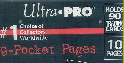 **NEW**Ultra pro 9 pocket pages in packs of 10