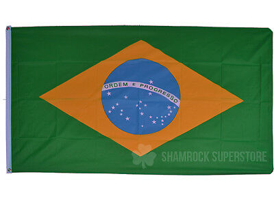 BRAZIL FLAG - NEW 3 x 2 FT - BRAZILIAN - NATIONAL - GREAT QUALITY - COUNTRY