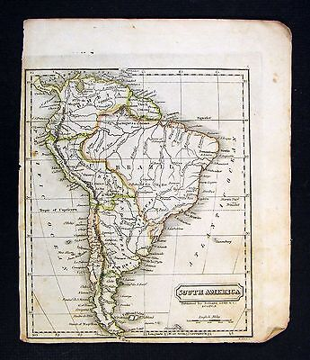 1828 Morse Map - South America - Brazil Peru Argentina Chili Colombia Patagonia