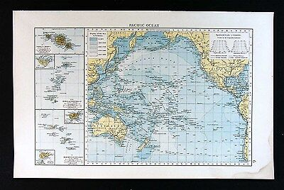 1900 Times Map - Pacific Ocean - Oceania Polynesia Hawaii Australia New Zealand