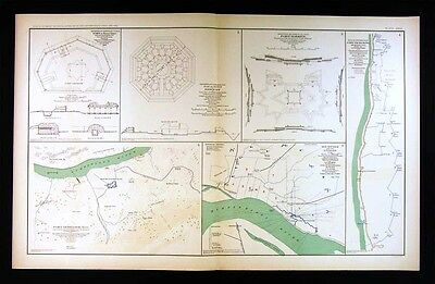 Civil War Map - Fort Donelson & Pickering Memphis Tennessee-  Mississippi River