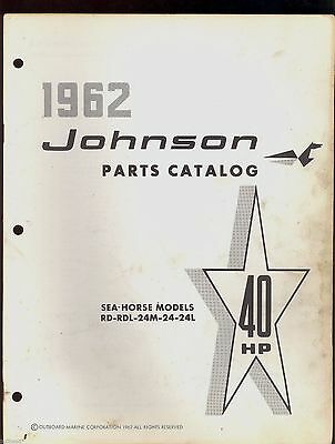 1962 Johnson 40Hp Rd-Rdl-24M Electric Outboard Motor Parts Manual / 378825